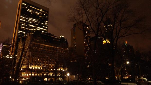E a noite fui ao Central Park, não deu pra ver nada, mas deve ser incrível.